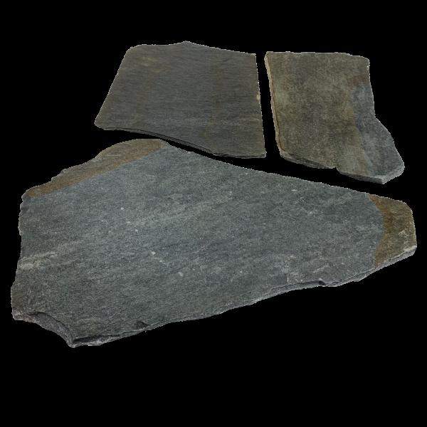 Terrassenplatten Polygonalplatte - Quarzit Karystos Blau