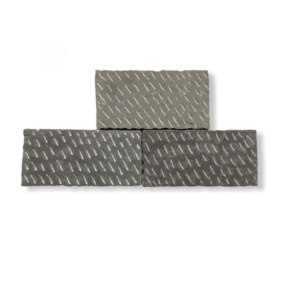 Formatplatte - Antik grau gespitzt 60x40x3.5 - 4.5 cm