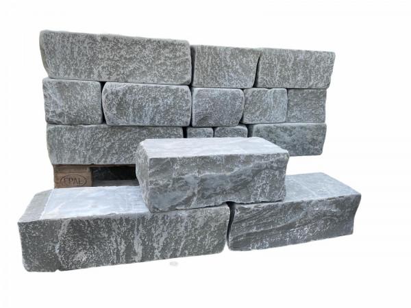 Mauerstein Sandstein - Antik grau FL x 20 x15 cm