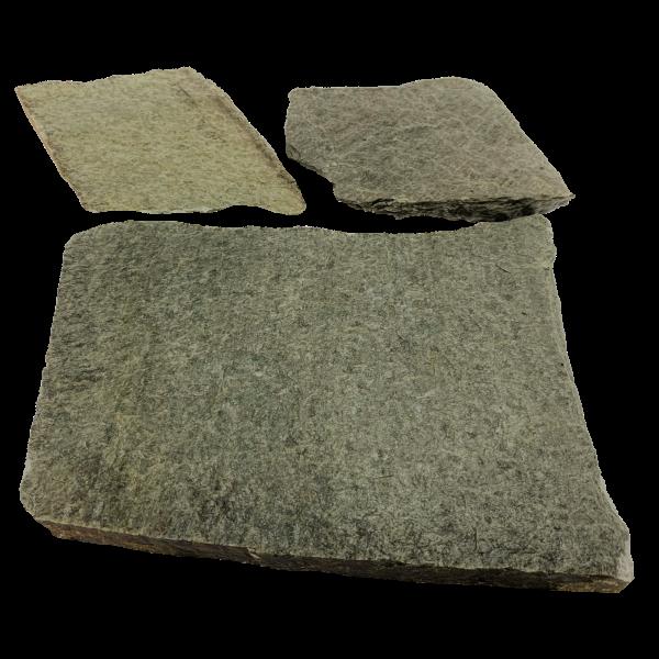 Terrassenplatten Polygonalplatte - Quarzit Silber