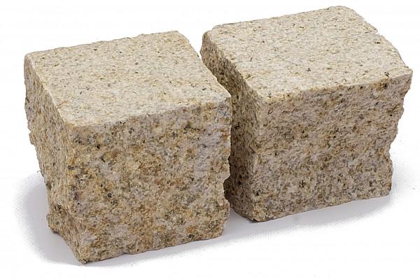 Granit Edelpflaster grau 9/9/8 cm Oberfläche gestockt