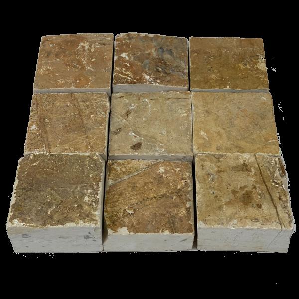 Pflastersteine/ Kalkstein - Mediterrane Gelb