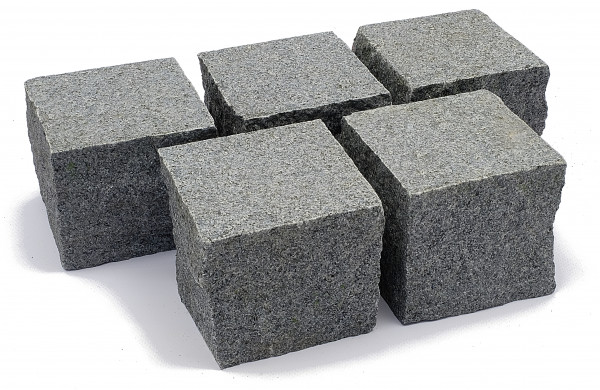 Granit Edelpflaster anthrazit 9/9/8 cm Oberfläche geflammt