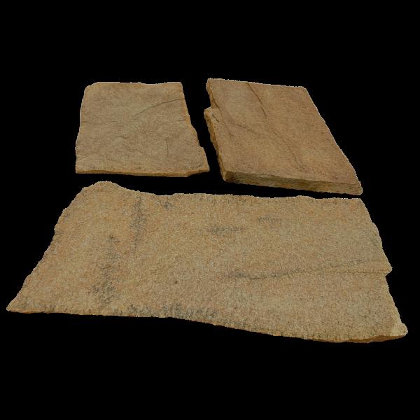 Terrassenplatten Polygonalplatte - Gneis Gold 2-3 cm