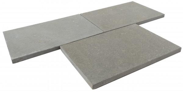 Sandsteinplatten- Antik grau geflammt & getrommelt 60x40x3 cm