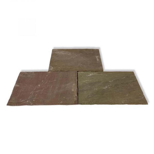 Sandsteinplatten - Modak Braun 60x40x2.2 cm