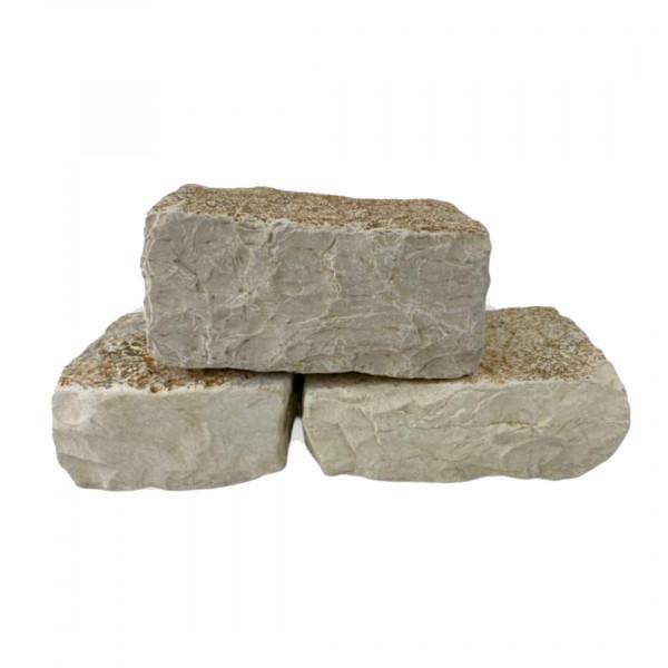 Trockenmauernstein - Antik weiß getrommelt