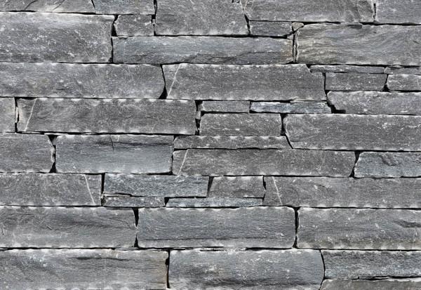 Rock Face Bruchstein Wandverblender - Flat Schwarz