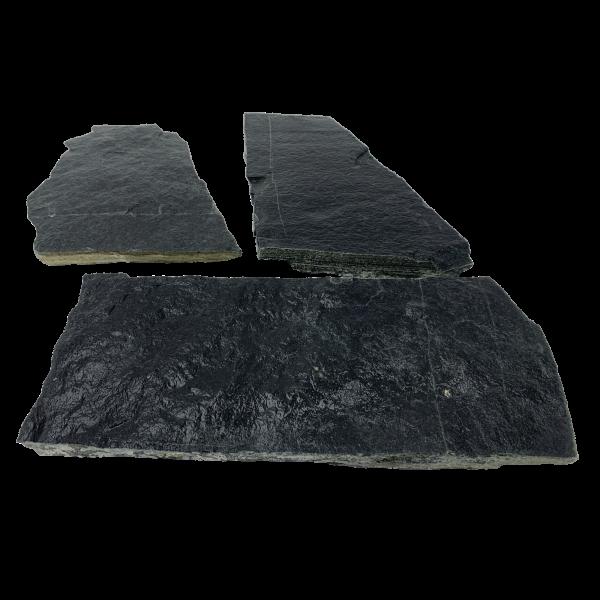 Terrassenplatten Polygonalplatte - Gneis Anthrazit 2-3 cm