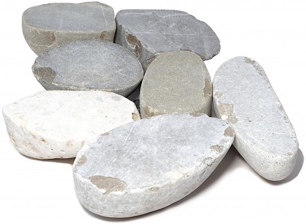 Adria Grey Flussgestein 2-4 cm Oberfläche gesägt