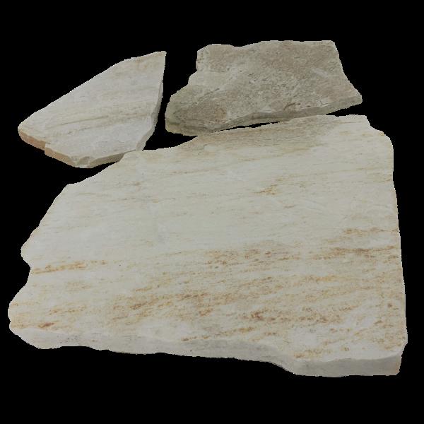 Terrassenplatten Polygonalplatte - Quarzit Triana Weiss