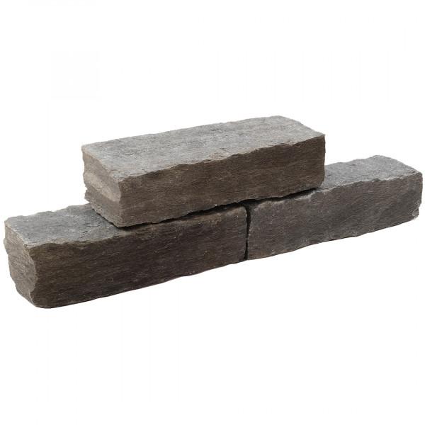 Schiefer Mauersteine anthrazit 16-20/20/25-40 cm