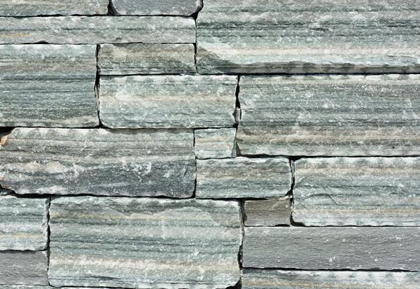 Rock Face Bruchstein Wandverblender - Flat Olive