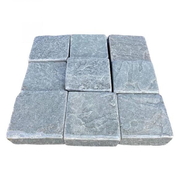 Pflastersteine Sandstein getrommelt - Antik Grau