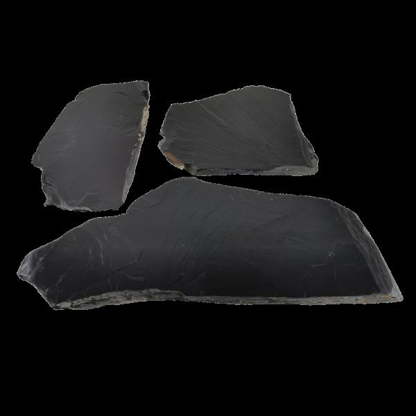 Terrassenplatten Polygonalplatte - Schiefer Schwarz