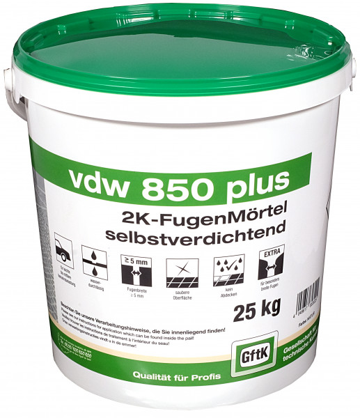 Pflasterfugenmörtel VDW 850 plus natur, 25 kg Eimer-Copy
